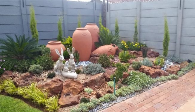 Small Garden With Pots