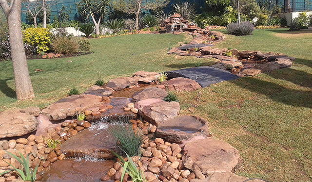 rock water features